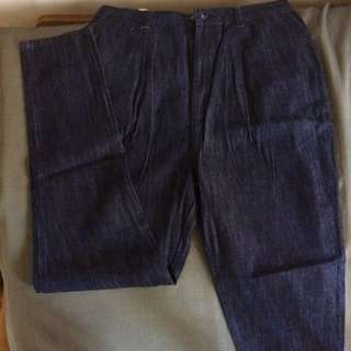 HIGH WAIST HER BENCH AUTHENTIC CARROT JEANS LIMITED EDITION