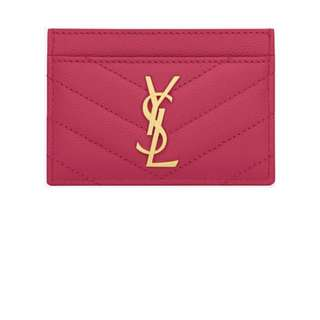 YSL CARD HOLDER 100%Real with box 90%new