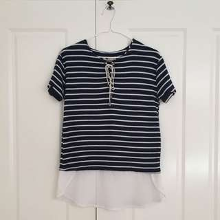 Temt 2-in-1 striped top