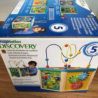 Wooden discovery cube