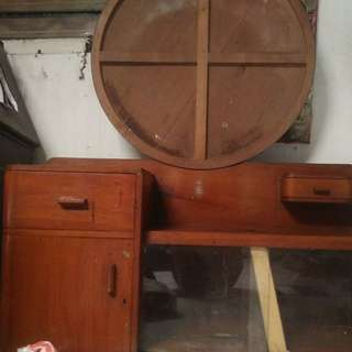 Cuci gudang Lemari Jati