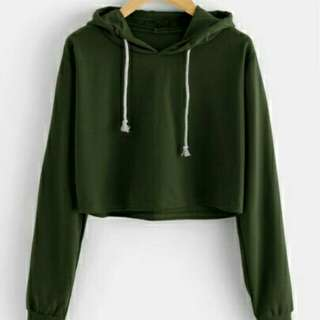 Sweater crop basic army