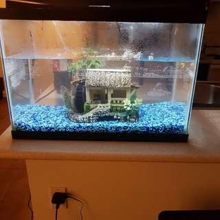 Black framed fish tank 20 gallons