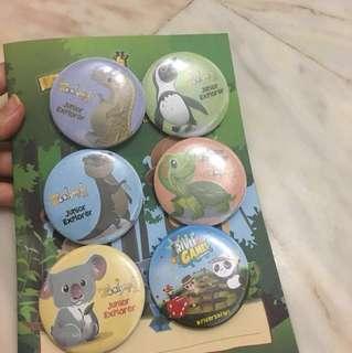 Singapore Zoo Badges