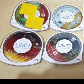 8 UMD GAMES FOR PSP