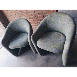 80s style Tub Chairs