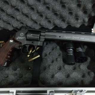 黑色 8吋 WG CO2 全金屬左輪手槍 +配件
