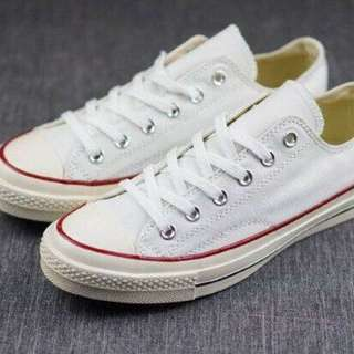 White Canvass Rubber Shoes Sneakers size 35-39