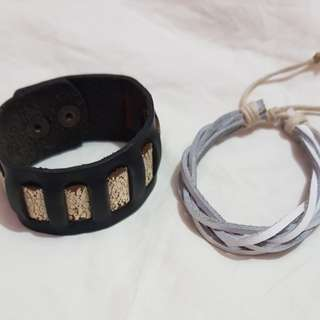 Pre loved Mens leather bracelet