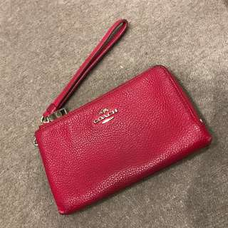 Coach Bright pink Leather Purse
