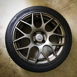 CAD 16' Rims with 3 Tyres