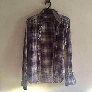 Long sleeve checkered shirt
