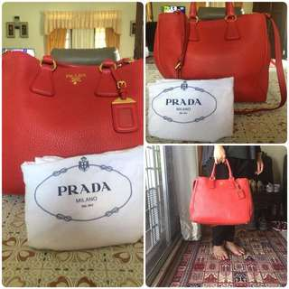 Prada Vitello Daino Large Size