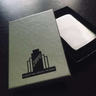 Chrome Zippo Lighter with box