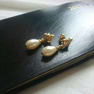 Vintage Pearl Dangle Earrings 古董珍珠耳環