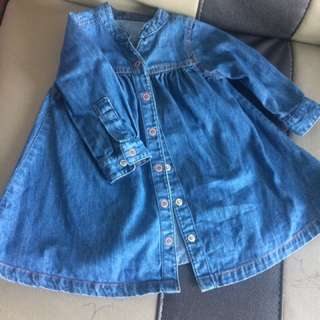 Mothercare denim top 3-6m