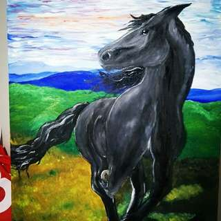 Original painting of horse
