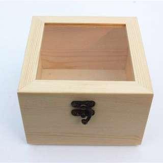 Wooden gift box/lid case/DIY craft design/storage/wedding deco/craft natural wood/Corporate gift/door gifts/souvenir