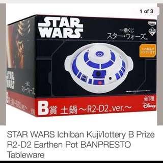 STAR WARS Ichiban Kuji/lottery B Prize R2-D2 Earthen Pot BANPRESTO Tableware