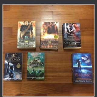 The Mortal Instruments, Allegiant, Percy Jackson