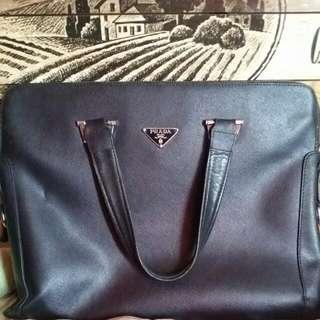 100%Real Prada document and laptop bag