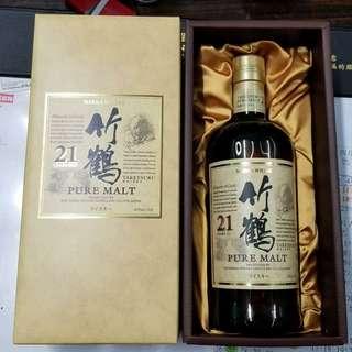 竹鶴21年純麥威士忌