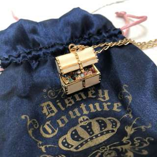 Disney Couture Treasure chest necklace