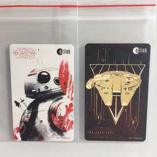 Limited Edition brand new Star Wars BB-8 And Falcon Millennium Design ezlink Cards For $8 Each.