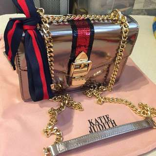 Katie judith silver gold bag 💼 💯 new