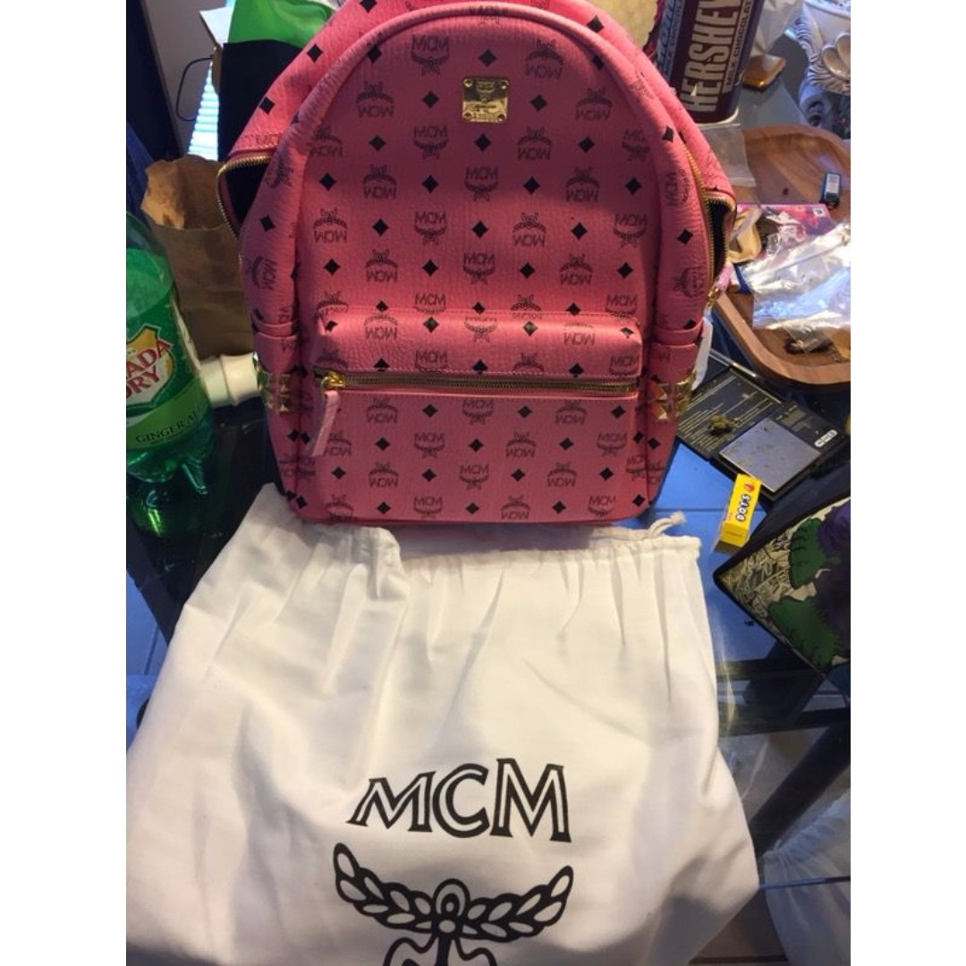 100% Authentic Pink Stark MCM Backpack