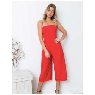SOLD OUT ONLINE - Red Jumpsuit