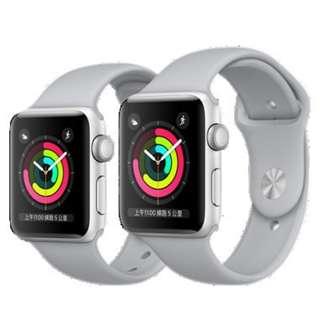 100% new never open apple watch 3 silver aluminium 42mm