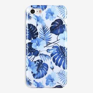 ⚜️BLUE FLORAL GLOSSY IMD CASE FOR IPHONE⚜️