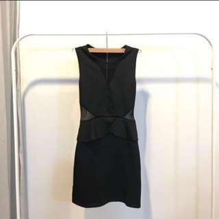 ASOS mesh cut out dress