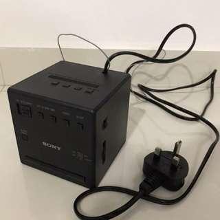 Brand new Sony radio alarm clock (black)