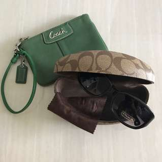 Coach Sunglasses and Pouch
