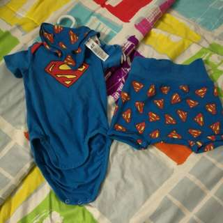 H&M 3 Piece Superman Set 4-6 Months BRAND NEW