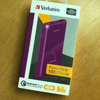 Verbatim power pack 10000mAh 尿袋 全新