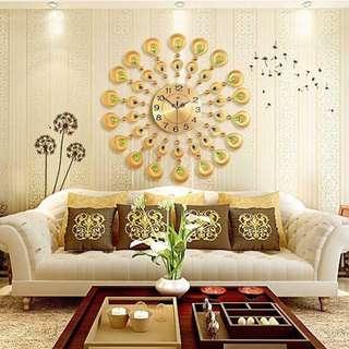 Big Gold Wall Clock