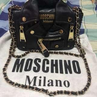 Moschino Leather Jacket Sling bag