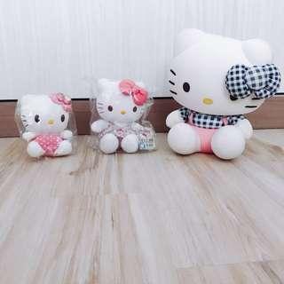 Authentic Sanrio Hello kitty plushie dolls