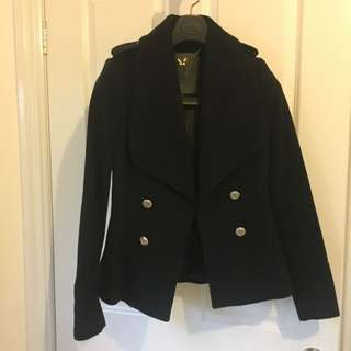 Forever New Wool Military Style Jacket Coat Size 6