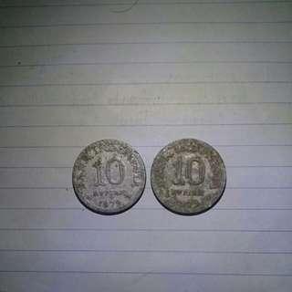 2 Keping Uang Rp. 10 th. 1979