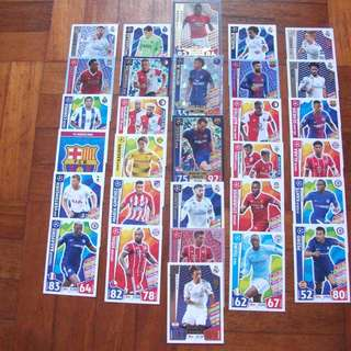 Match Attax Champions League 17/18 cards (Lot of 30 cards)