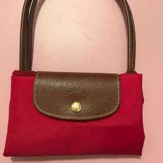 Longchamp 長手抽細size紅色手袋