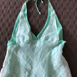 Women dress light green size 8