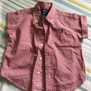 Ralph Lauren Red checkered polo