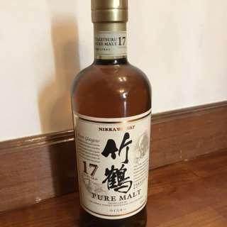 竹鶴Pure Malt 17年,700ml