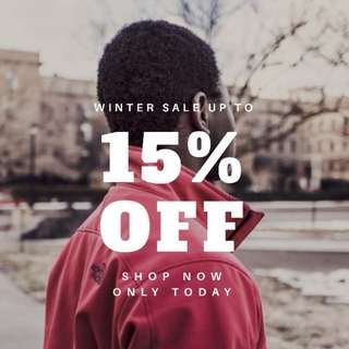 SALE up to 15% OFF for ALL PRODUCTS