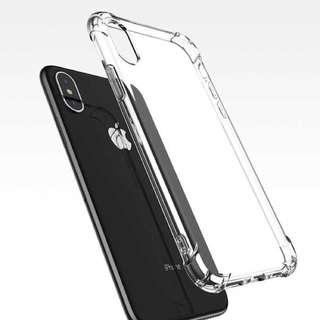 iPhone X case, cellphone case, plastic, transparent